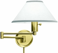 House of Troy WS1451 WS14 Decorative Swing Arm Wall Lamp in Satin Brass
