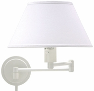 House of Troy WS149 WS14 Decorative Swing Arm Wall Lamp in White
