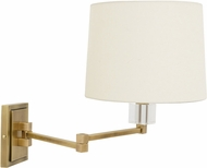 House of Troy WS722-AB Wall Swing Arm Antique Brass Wall Swing Arm Lamp