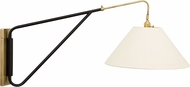 House of Troy WS731-ABBLK Wall Swing Arm Antique Brass with Black Accents Wall Swing Arm Lamp