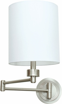 House of Troy WS775-SN Decorative Satin Nickel Swing Arm Lamp