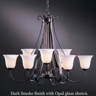 Hubbardton Forge 10-1459 Sweeping Taper 9-Light Glass Chandelier