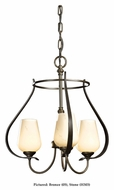 Hubbardton Forge 103047 Flora Wrought Iron 19 Inch Diameter Small Chandelier Lighting