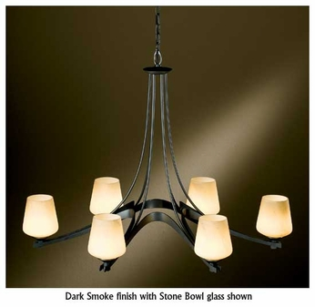 Hubbardton Forge 104106 Ribbon 6-Light Oval Chandelier