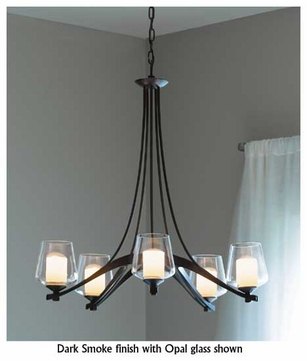 Hubbardton Forge 104115 Ribbon 5-Light Clear Halogen Chandelier