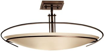 Hubbardton Forge 124341 Oval Mackintosh Semi-Flush Ceiling Light
