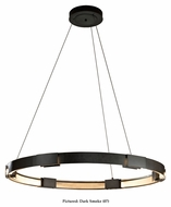 Hubbardton Forge 138589D Aura LED Large 48 Inch Wide Contemporary Ring Hanging Light