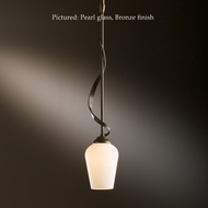 Hubbardton Forge 18-303 Flora Wrought Iron 3.9 Inch Diameter Mini Pendant Lighting