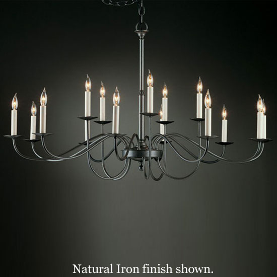 Hubbardton Forge 19 204415lc Simple Lines 15 Light Chandelier Loading Zoom