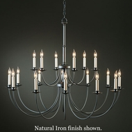 Hubbardton Forge 19-714418lc Simple Lines 18-Light Chandelier