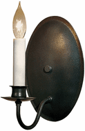 Hubbardton Forge 204210 Traditional Candle Oval Backplate Wall Sconce
