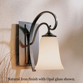 Hubbardton Forge 20-4531 Scroll Glass Bell Wall Sconce