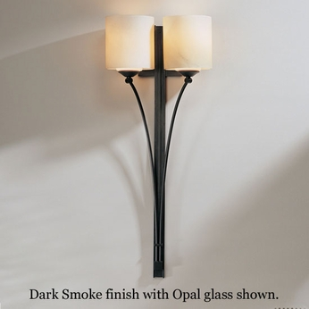 Hubbardton Forge 20-4672 Formae Double Glass Tube Wall Sconce