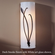 Hubbardton Forge 20-5770l Forged Leaf & Stems White Wall Sconce, Left