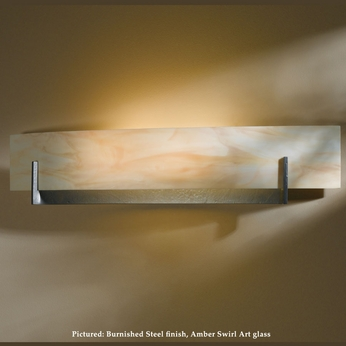 Hubbardton Forge 20-6410 Axis Large 28 Inch Wide 2 Light Wall Mounted Lamp With Glass Options