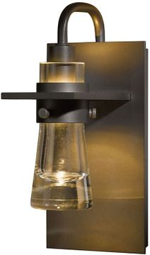 Hubbardton Forge 207710 Erlenmeyer 9.4 Inch Tall Thick Glass Cone Wall Sconce