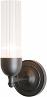 Hubbardton Forge 202123-SKT-09 Fluted Matte Black Wall Lamp