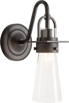 Hubbardton Forge 202161-SKT-09-ZM0613 Castleton Matte Black Wall Light Sconce