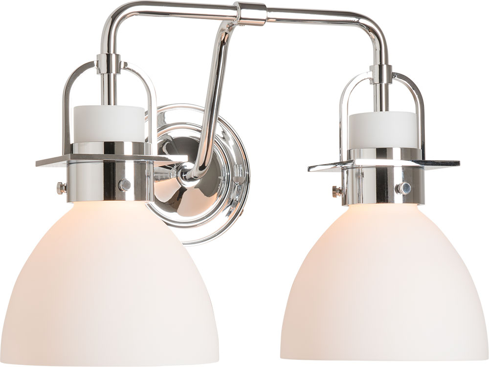 Hubbardton Forge 202169 Skt 21 Gg0612 Castleton Polished Chrome 2 Light Vanity Light Fixture