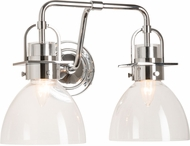 Hubbardton Forge 202169-SKT-21-ZM0612 Castleton Polished Chrome 2-Light Vanity Lighting Fixture