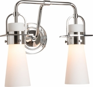 Hubbardton Forge 202170-SKT-21-GG0613 Castleton Polished Chrome 2-Light Bathroom Lighting Sconce