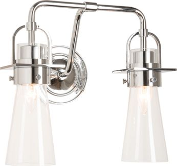 Hubbardton Forge 202170-SKT-21-ZM0613 Castleton Polished Chrome 2-Light Bathroom Sconce Lighting