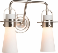 Hubbardton Forge 202170-SKT-22-GG0613 Castleton Brushed Nickel 2-Light Bath Lighting Sconce