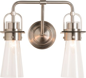 Hubbardton Forge 202170-SKT-22-ZM0613 Castleton Brushed Nickel 2-Light Bathroom Wall Light Fixture