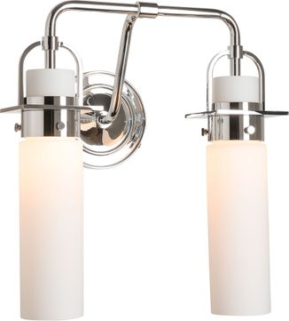 Hubbardton Forge 202171-SKT-21-GG0614 Castleton Polished Chrome 2-Light Bath Lighting