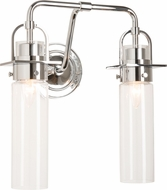 Hubbardton Forge 202171-SKT-21-ZM0614 Castleton Polished Chrome 2-Light Bathroom Light