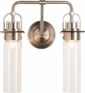 Hubbardton Forge 202171-SKT-22-ZM0614 Castleton Brushed Nickel 2-Light Vanity Lighting
