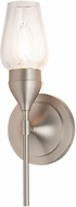 Hubbardton Forge 202182-SKT-22 Tulip Reflections Brushed Nickel Wall Light Fixture