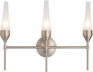 Hubbardton Forge 202190-SKT-22 Tulip Reflections Brushed Nickel 3-Light Lighting For Bathroom