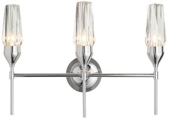 Hubbardton Forge 202191-SKT-21-CR Tulip Reflections Polished Chrome 3-Light Bath Lighting