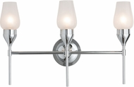Hubbardton Forge 202192-SKT-21 Tulip Reflections Polished Chrome 3-Light Bathroom Lighting Fixture