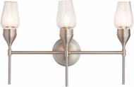 Hubbardton Forge 202192-SKT-22 Tulip Reflections Brushed Nickel 3-Light Vanity Lighting