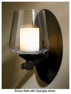 Hubbardton Forge 204104 Ribbon 1-Lamp Clear Halogen Wall Sconce