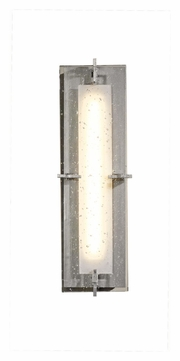 Hubbardton Forge 207760D Ethos Small 18 Inch Tall Modern LED Wall Light - Vintage Platinum