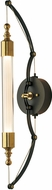 Hubbardton Forge 207901-31-YE489 Otto Brass w/ Black Wall Lighting Sconce