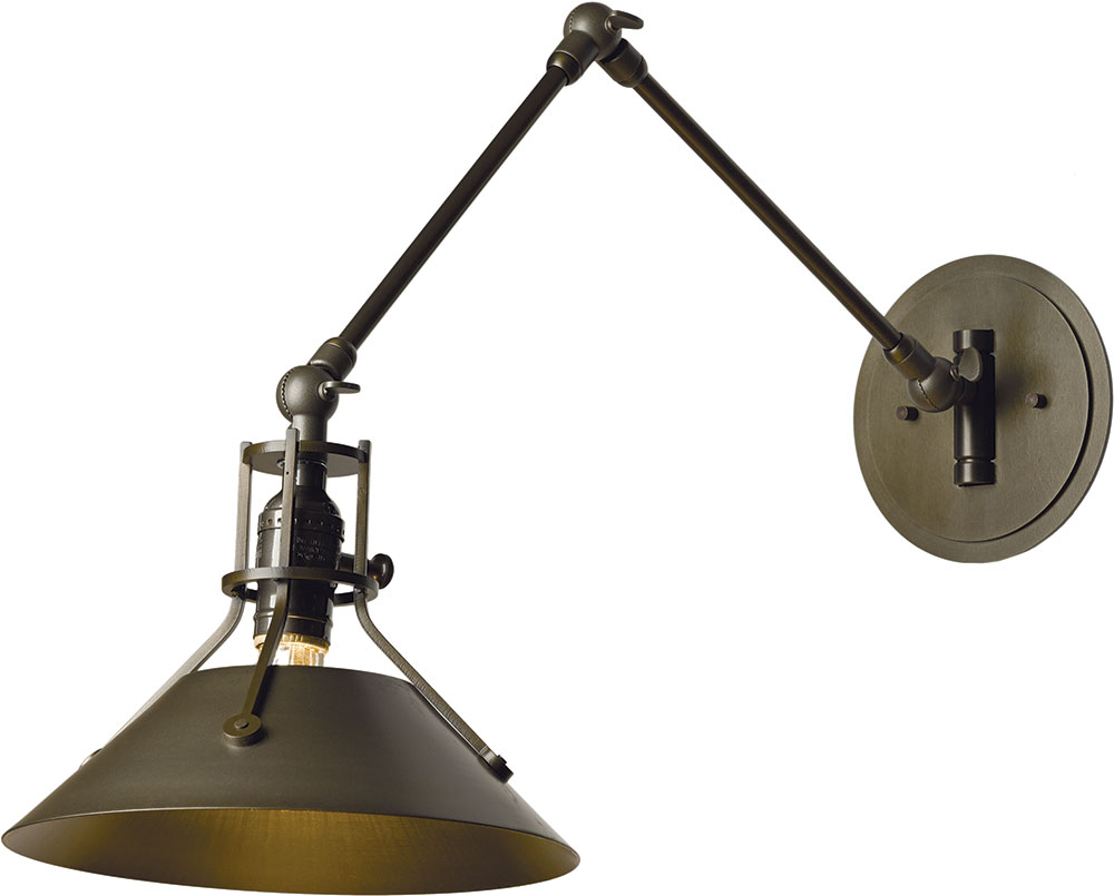 Hubbardton Forge 209320 Henry Wall Swing Arm Lamp Loading Zoom