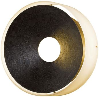Hubbardton Forge 213310 Oculus Round 11.5 Inch Diameter Wrought Iron Sconce Light