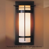 Hubbardton Forge 305993 Banded Outdoor Medium Top Plate Sconce