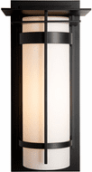 Hubbardton Forge 305994 Banded Outdoor Large Top Plate Sconce