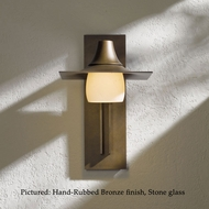 Hubbardton Forge 30-6565 Hood Transitional 16 Inch Tall Outdoor Wall Light With Glass Options