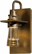 Hubbardton Forge 307710 Erlenmeyer 9.5 Inch Tall Outdoor Thick Glass Sconce Lighting