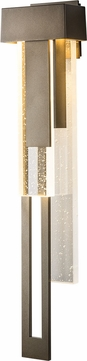 Hubbardton Forge 302533-LED-LFT Rainfall LED Outdoor Lamp Sconce