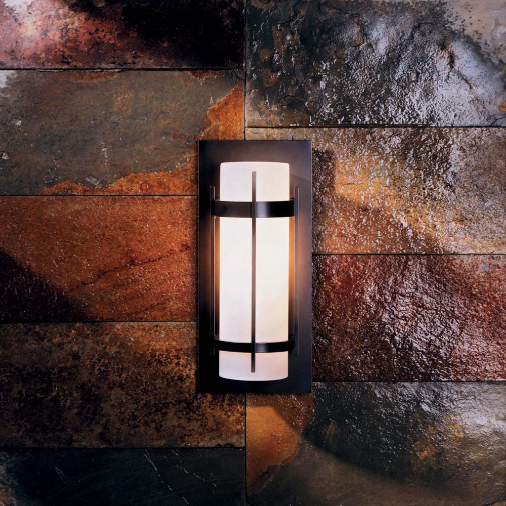 Hubbardton Forge 305893 Banded LED Exterior Wall Light Fixture ...