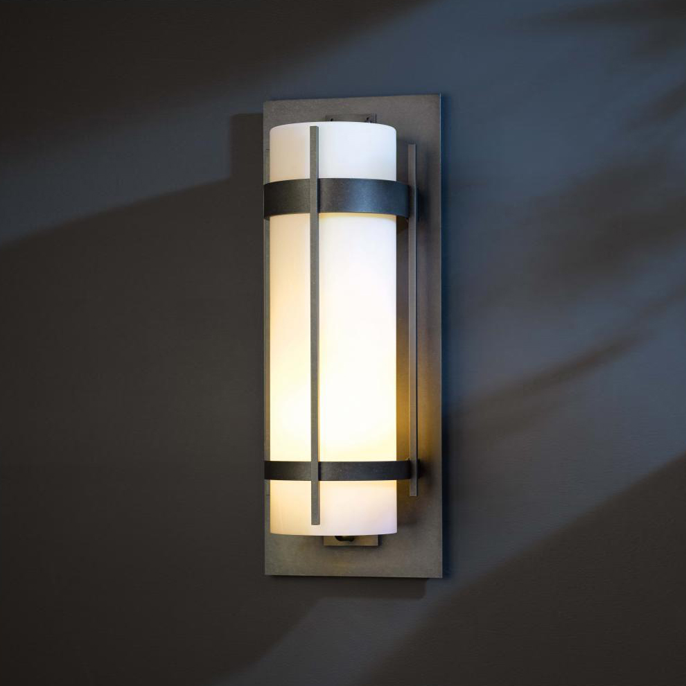 Exterior Lighting: Hubbardton Forge 305895 Banded LED Exterior Wall Lighting