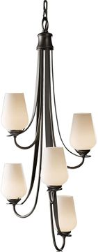 Hubbardton Forge 103035 Flora 34 Inch Tall 5 Lamp Vertical Hanging Chandelier