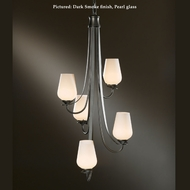 Hubbardton Forge 414825 Flora 34 Inch Tall 5 Lamp Vertical Hanging Chandelier